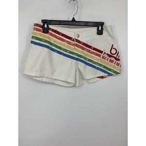 Billabong 7 white rainbow shorts swim cover